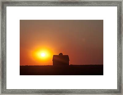 Barn Meets Sunset Framed Print by Dawn Romine