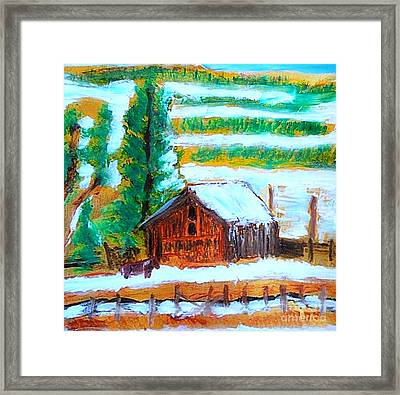 Barn Near Loa Utah 1 Framed Print by Richard W Linford
