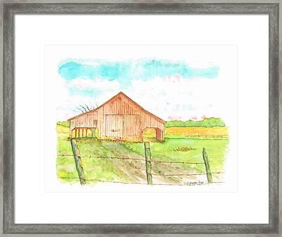 Barn - New Mexico Framed Print by Carlos G Groppa