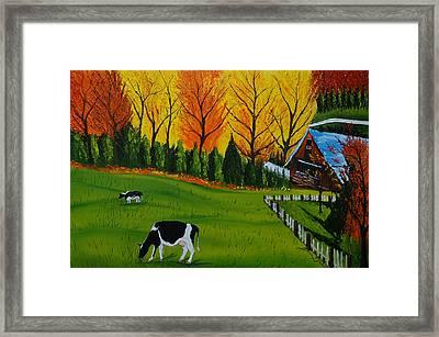 Barn Of Autumn 2 Framed Print by Portland Art Creations