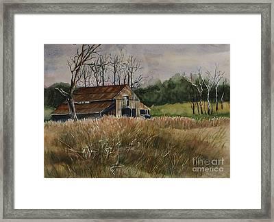 Barn Off The Road Framed Print