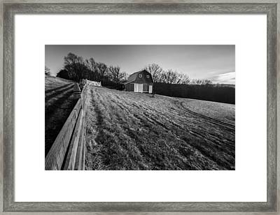 Barn On A Hill Framed Print by Sven Brogren
