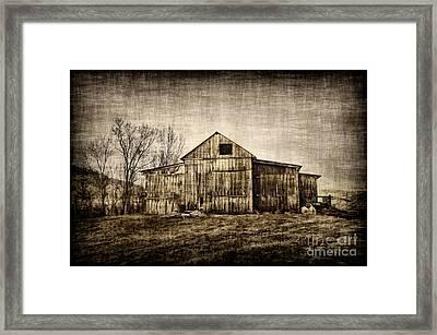 Barn On Farm Framed Print by Dan Friend