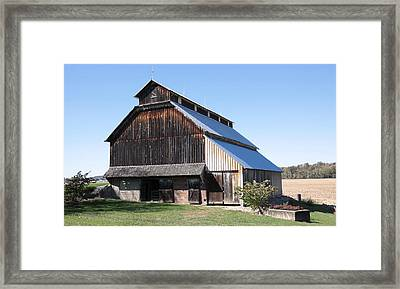 Barn On Hawkins Road Framed Print
