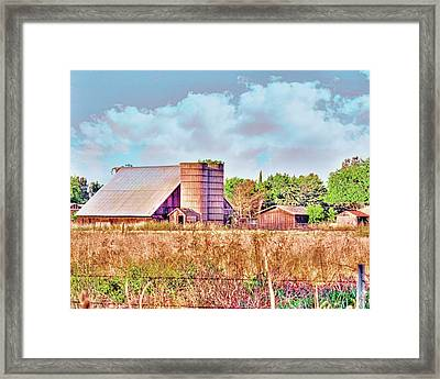 Barn On Interstate 5 Ef Framed Print