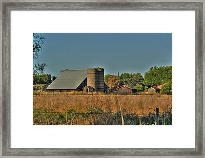 Barn On Interstate 5 Framed Print