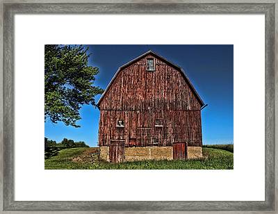 Barn On Kennedy Road Webster Ny Framed Print
