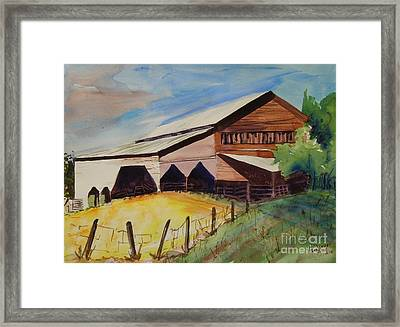 Barn On Rt. 42 Framed Print by Judith Espinoza