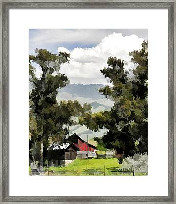 Barn On Santa Rosa Road Framed Print