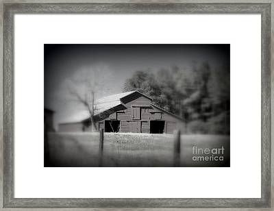 Barn On The Hill Framed Print