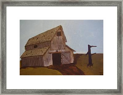 Barn On The Hill Framed Print by Keith Nichols