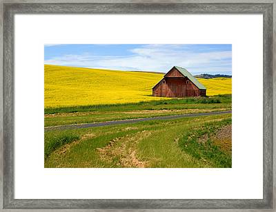 Barn On The Palouse No.2 Framed Print by Daniel Woodrum