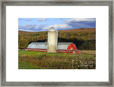 Barn On The River Rd. Framed Print by Deborah Benoit