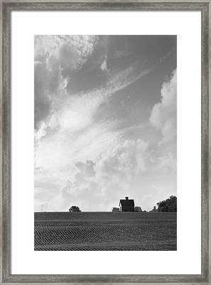 Barn On Top Of The Hill 2 Framed Print