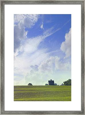 Barn On Top Of The Hill Framed Print