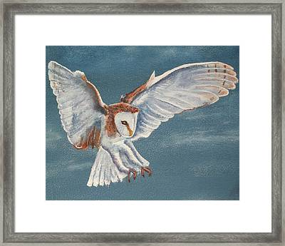 Framed Print featuring the painting Barn Owl by Dan Wagner