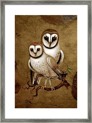 Barn Owls Framed Print by Richard Hinger