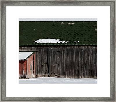 Barn Parts 10 Framed Print by Mary Bedy