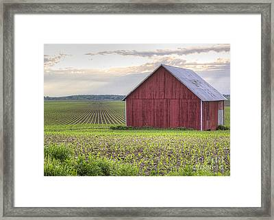 Barn Perspective Framed Print by Kent Taylor