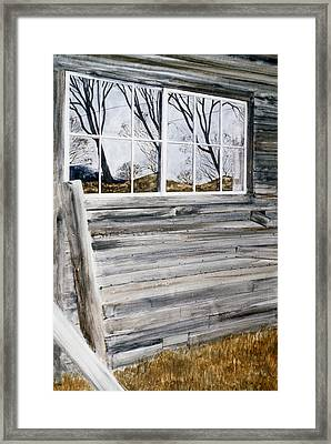 Barn Reflection Framed Print by Karol Wyckoff