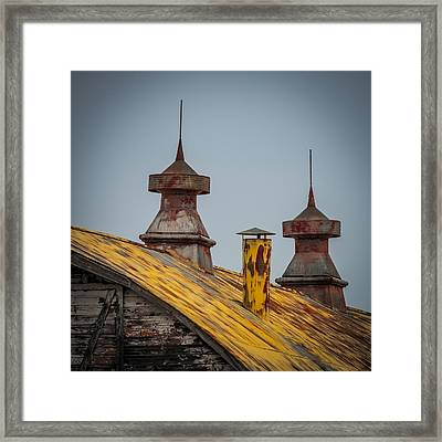 Barn Roof In Color Framed Print by Paul Freidlund