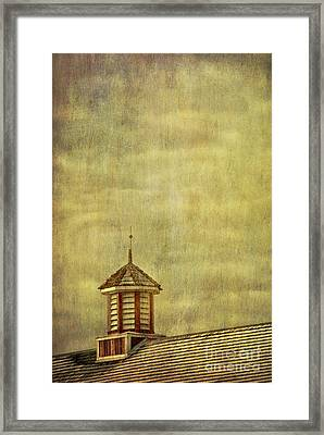 Barn Rooftop With Weather Vane Framed Print by Birgit Tyrrell