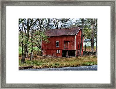 Barn - Seen Better Days Framed Print by Paul Ward