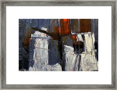 Framed Print featuring the digital art Barn Side Design by Jim Vance