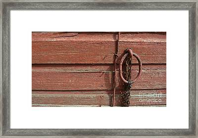 Barn Siding And Hardware Framed Print by Renie Rutten