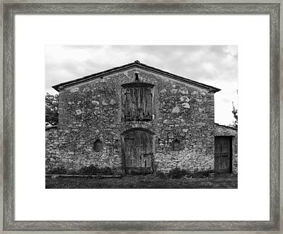 Barn Sienna Framed Print by Hugh Smith