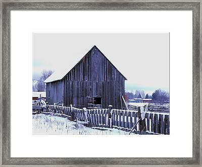 Barn Standing Tall Framed Print by Kae Cheatham