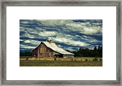 Barn Framed Print by Steve McKinzie