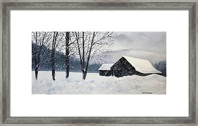 Barn Storm Framed Print