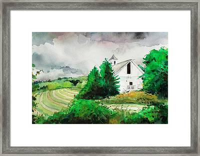 Barn Storm Framed Print by Scott Nelson