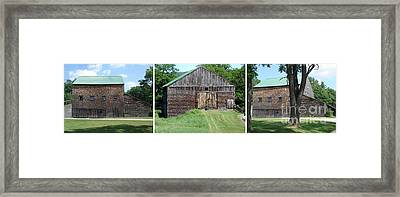 Barn Triptych Framed Print by Kerri Mortenson