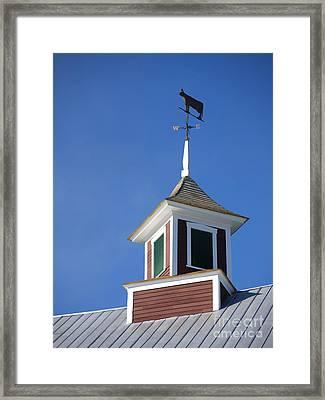 Barn Weathervane Framed Print
