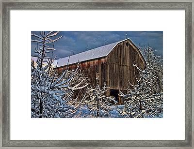 Barn Webster Ny Framed Print
