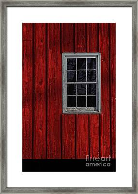 Framed Print featuring the photograph Barn Window by Debra Fedchin