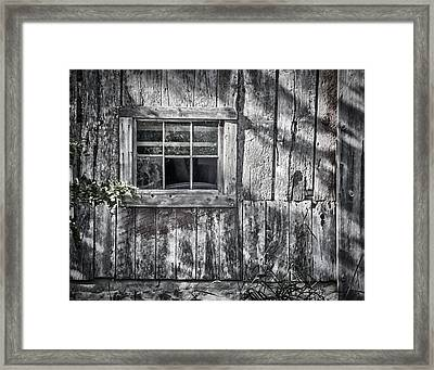 Barn Window Framed Print