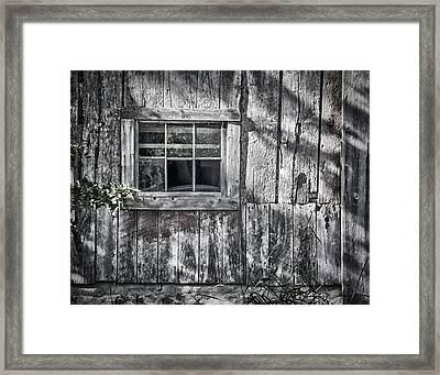 Barn Window Framed Print by Joan Carroll