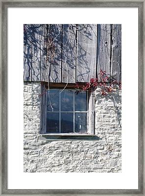 Barn Window Framed Print by Sheila Byers