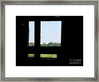Framed Print featuring the photograph Barn Window by Tina M Wenger