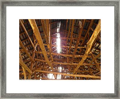 Framed Print featuring the photograph Barn With A Skylight by Nick Kirby