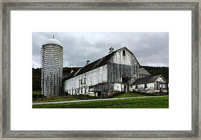 Barn With Silo Framed Print