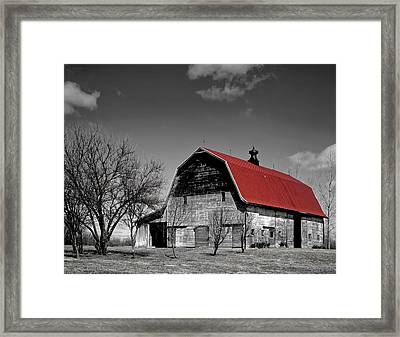 Barn With The Red Roof Framed Print by Mountain Dreams