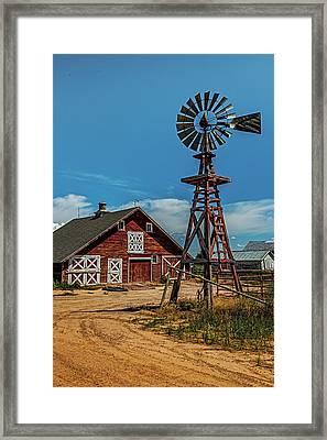 Barn With Windmill Framed Print