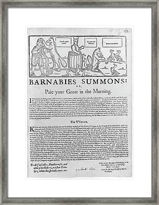 Barnabies Summons Framed Print by British Library