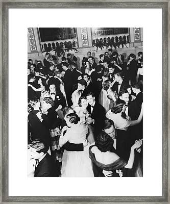 Barnard College Prom Framed Print by Underwood Archives