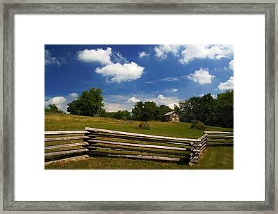 Framed Print featuring the photograph Barne Emerson Cabin by Chuck De La Rosa
