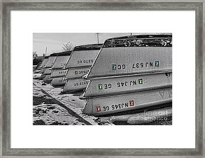 Barnegat Boats II Framed Print by Lee Dos Santos